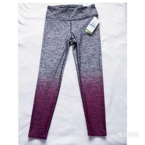 NWT GAIAM Yoga OM Dip Tye Capris Legging Sz XS